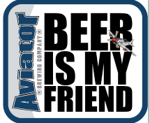 Sticker - Aviator Beer Is My Friend