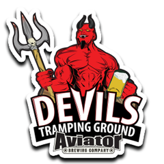 Aviator Metal Tacker Sign - Devils Tramping Ground NEW!!!
