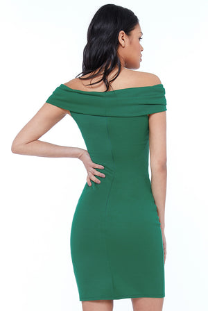 BANDEAU MIDI DRESS - Emerald