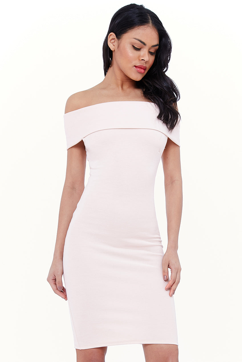 BANDEAU MIDI DRESS - Oyster