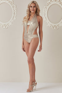 Stephanie Pratt - Cut Out Swimsuit - Gold