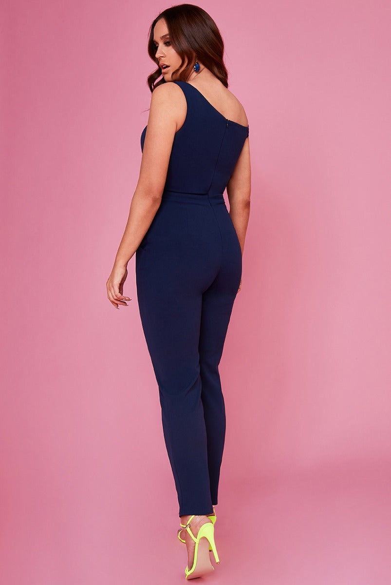 Bow Front Jumpsuit by Vicky Pattison - Navy