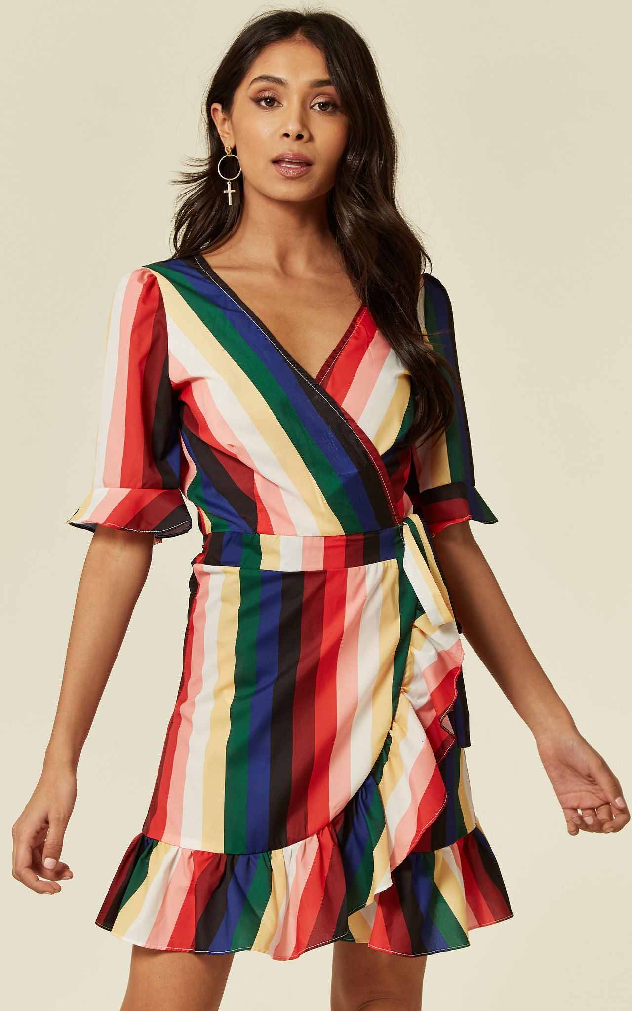Milly Wrap Multicolour Dress