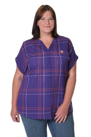CLEMSON TIGERS DOLMAN PLAID