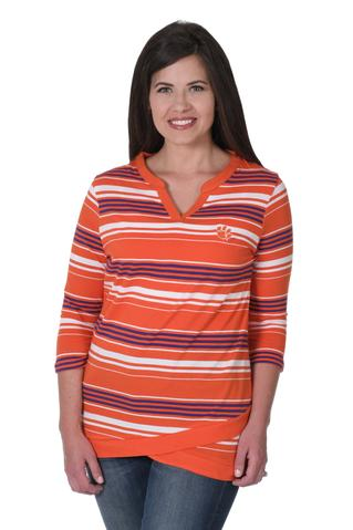 CLEMSON TIGERS ASYMMETRICAL TUNIC by UG Apparel