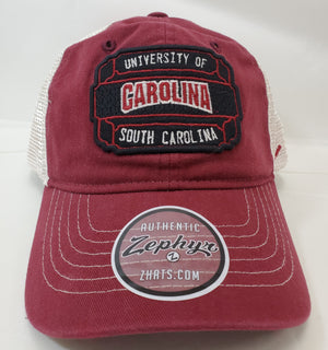 Zephyr University of South Carolina Patch Trucker Cap
