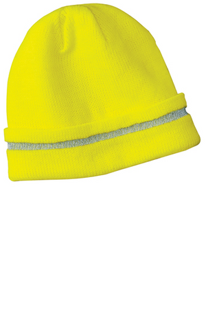 Enhanced Visibility Beanie with Reflective Stripe (2 Colors)