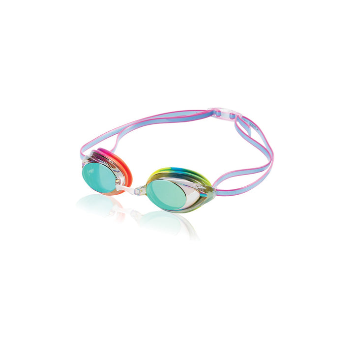 SPEEDO VANQUISHER 2.0 MIRRORED GOGGLES IN Rainbow Brights