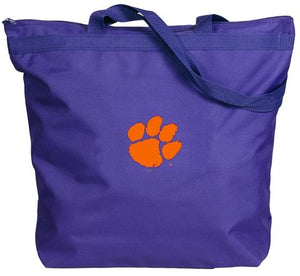 Clemson Tiger Zipper Tote