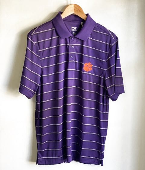 Clemson tigers cutter & Buck Dry-tec polo - Purple