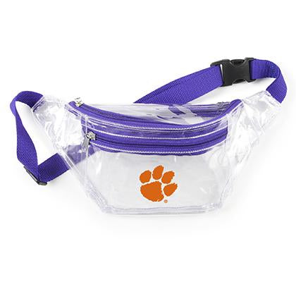 Clemson Tiger Clear Fanny Pack