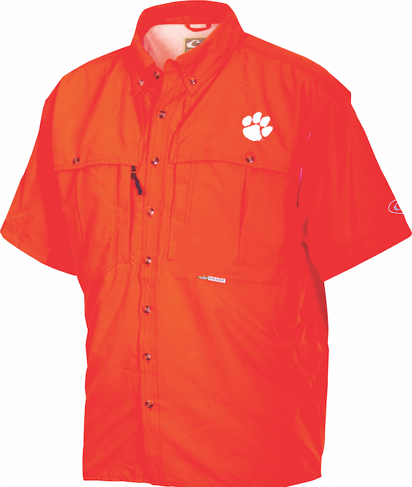 Clemson Drake Wingshooter's Shirt Short Sleeve