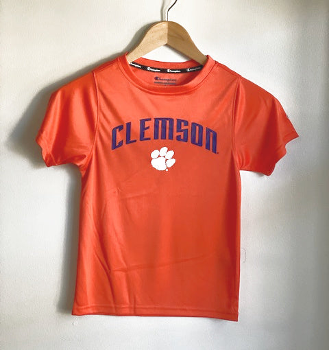 Clemson tigers champion youth arched logo tee