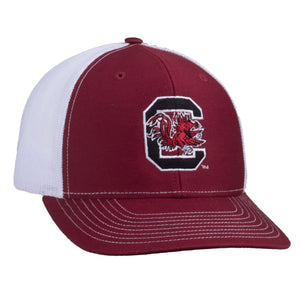 Carolina Gamecocks Block C Logo Richardson Mesh Hat - Garnet/White