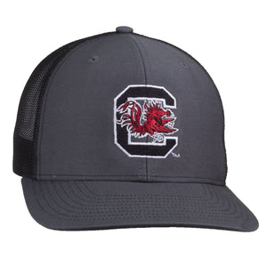Carolina Gamecocks Block C Logo Richardson Mesh Hat - Charcoal/Black