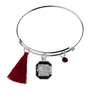 University of South Carolina Block C & Tassel Bracelet