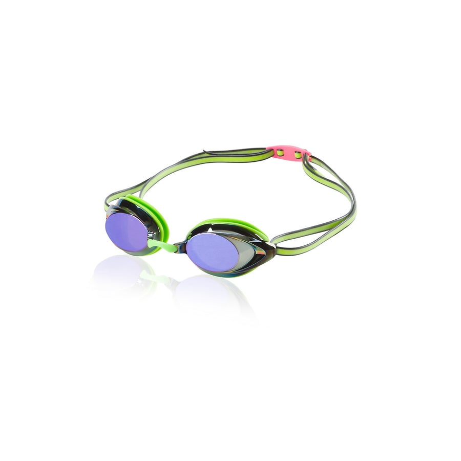 Speedo Vanquisher 2.0 Mirrored Goggles in Key Lime
