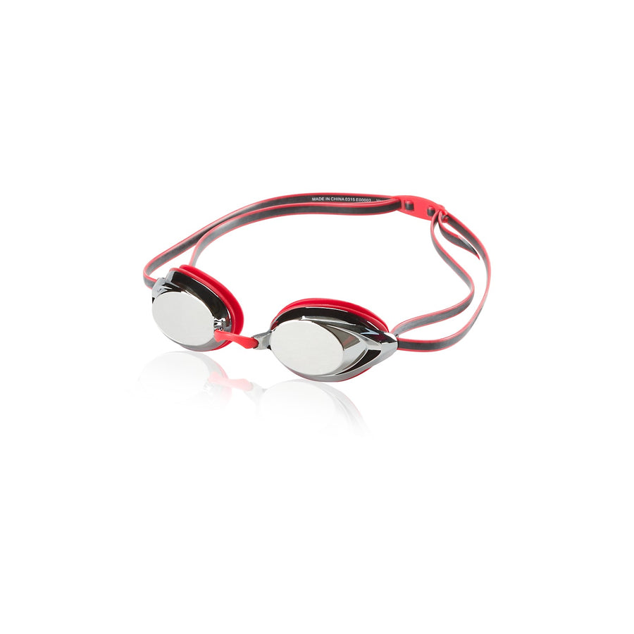 Speedo Vanquisher 2.0 Mirrored Goggles in Speedo Red