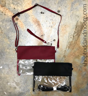 Clear Stadium Crossbody Purse/Clutch Bag
