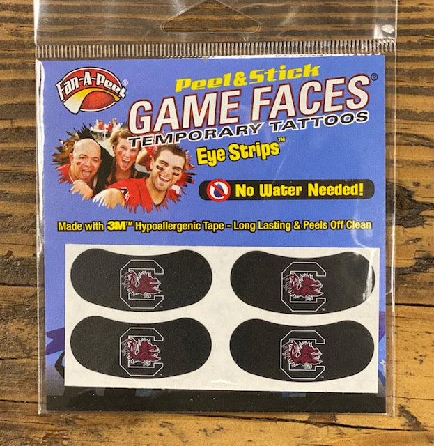 USC Gamecocks Waterless Peel & Stick Eye Strips