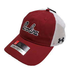 South Carolina Gamecocks Under Armour Carolina Script Trucker Cap Garnet