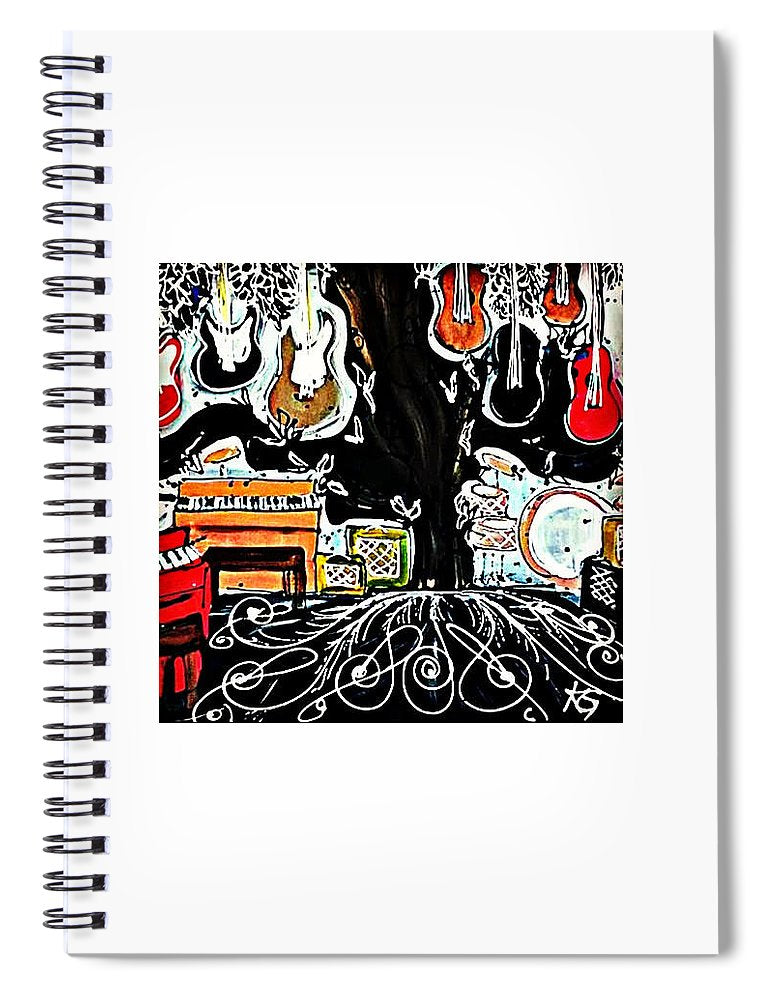 The Music Store - Spiral Notebook