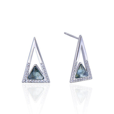 green-quartz-triangle-earrings
