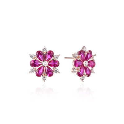 pink-tourmaline-floret-stud-earrings