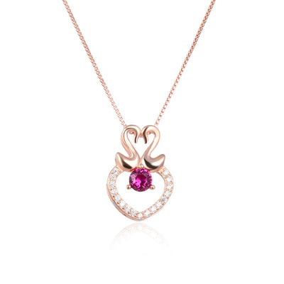 pink-tourmaline-swan-couple-pendant