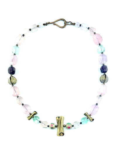 rose-quartz-smoky-quartz-fluorite-silver-necklace