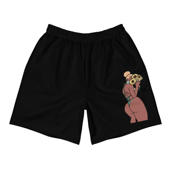 Big Booty Belle Men's Athletic Long Shorts