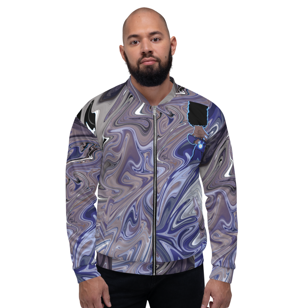 Berry Blues Unisex Bomber Jacket