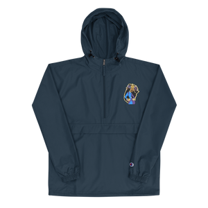She Goes Embroidered Champion Packable Jacket