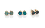 AUSTRALIS COLLECTION - HEXAGON FIRE OPAL EARRINGS