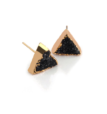 BRILHANTE COLLECTION - TRIANGLE DRUZY STUDS
