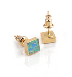 AUSTRALIS COLLECTION - SQUARE FIRE OPAL EARRINGS