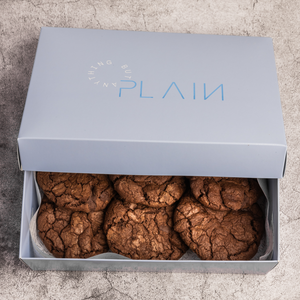 Order Online |  Dark Chocolate Cookies Box of 6 | Plain Desserts