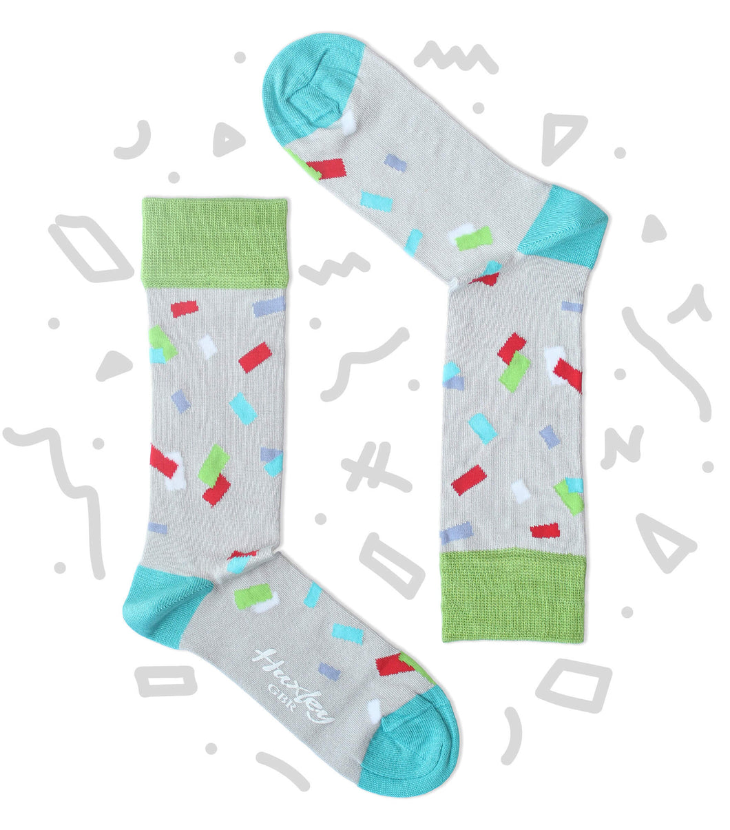 Colourful Confetti pieces Bamboo Socks