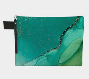 Marbled Teal Clutch - Streetside Apparel