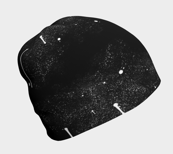 Black Splatter Beanie - Streetside Apparel