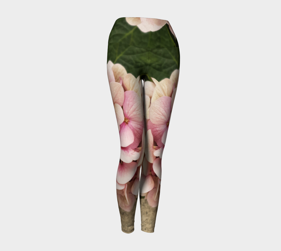 Pale Hydrangea Leggings - Streetside Apparel