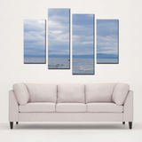 From Sky to Sea- 4 piece canvas - Streetside Apparel