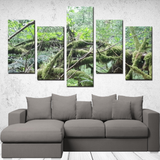 Old Growth Forest - 5 piece canvas set - Streetside Apparel