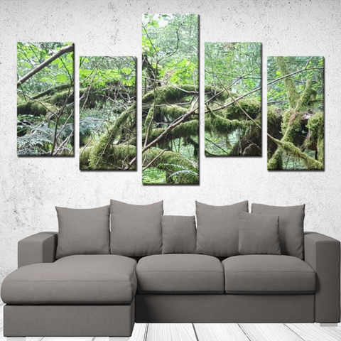 Old Growth Forest - 5 piece canvas set