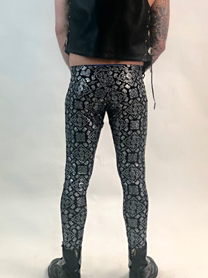 Black Paisley Meggings