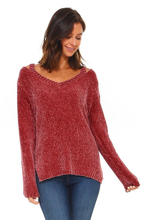Cut Out Chenille Cozy Soft Sweater