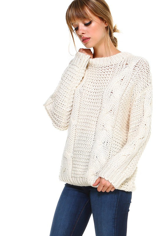 Hand Knitted Pullover Sweater