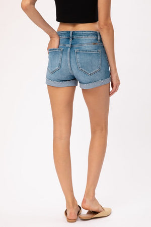 KanCan Hazel High Rise Cuffed Shorts