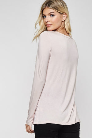 Long Sleeve Crew Neckline Top