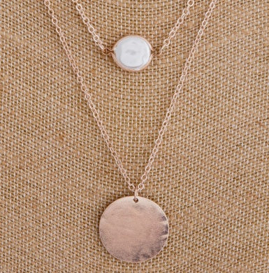 Two Layer Necklace with Circular Pendant(s)